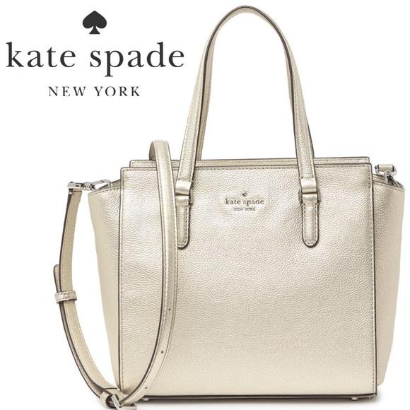 NWT Kate Spade Metallic Satchel / Crossbody Bag